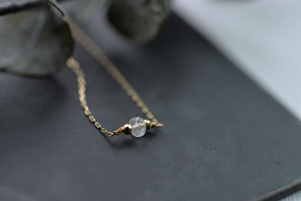 画像1: [10K18K]お誕生石のブレスレット6月ムーンストーン (1)