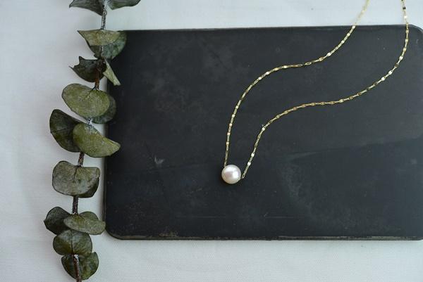 画像1: (再販)10K月の花ネックレス (1)