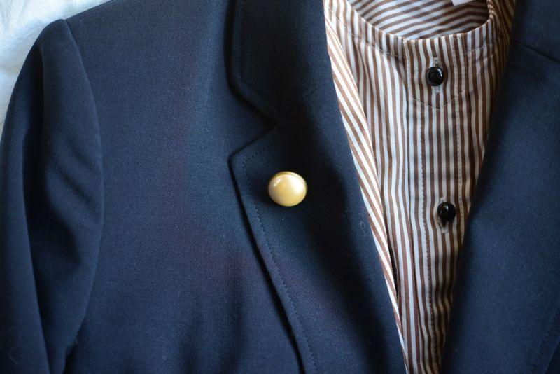 画像1: [vintage]ヴィンテージパールのシンプルな一粒ブローチ (1)