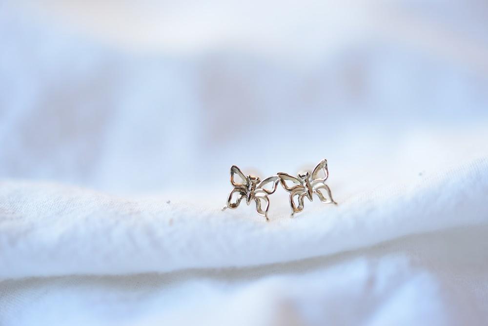 画像1: [10K]Butterflyピアス (1)